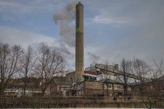 Бумажная фабрика Saugbrugs (части фабрики) Стоковые Изображения RF