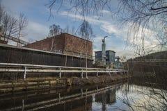 Бумажная фабрика Saugbrugs (части фабрики) Стоковые Фотографии RF