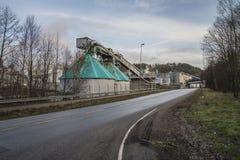 Бумажная фабрика Saugbrugs (части фабрики) Стоковые Изображения
