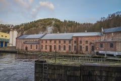 Бумажная фабрика Saugbrugs (части фабрики) Стоковое Фото