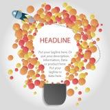 Бумажная электрическая лампочка пузыря идеи - вектора Стоковые Фото
