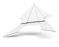 Бумажная лягушка изолированная на белой предпосылке 3d представляют цилиндры image Стоковые Изображения