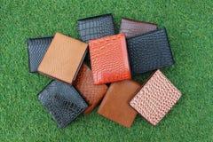 Бумажники группы кожи Стоковое Изображение RF