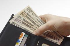 Бумажник вполне денег Стоковая Фотография