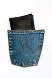 Бумажник в карманн стоковая фотография rf
