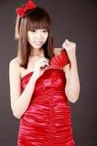 бумажник девушки Азии стоковые фотографии rf