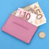 бумажник евро валюты Стоковые Изображения RF