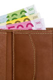 бумажник евро кредиток Стоковое Изображение RF