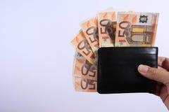 бумажник евро Стоковые Изображения