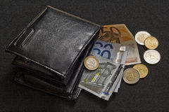 бумажник евро 2 Стоковое Фото