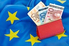 бумажник евро Стоковая Фотография RF