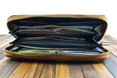 бумажник дег кредита карточек открытый Стоковое Фото