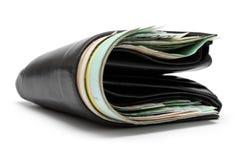 бумажник заполненный кожей Стоковое Фото
