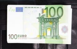 Бумажник и деньги Стоковое Фото