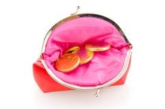 бумажник красного цвета дег шоколада Стоковое Изображение