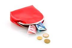бумажник красного цвета дег Стоковые Фото