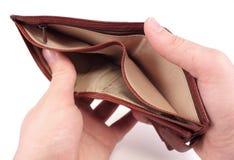 бумажник кризиса принципиальной схемы пустой Стоковая Фотография RF