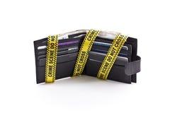 бумажник ленты места злодеяния открытый Стоковое Изображение RF