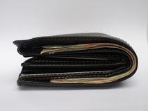 Бумажник матовой черноты стоковые изображения rf