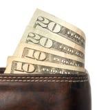 бумажник наличных дег Стоковое Фото