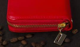 Бумажник под молнией Стоковое Фото