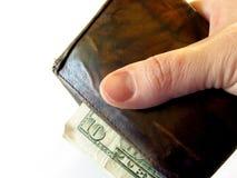 бумажник руки стоковое изображение