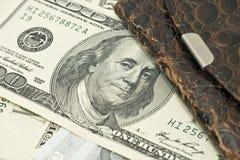 бумажник сбережени дег крупного плана старый Стоковые Изображения
