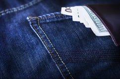 Бумажник с деньгами Стоковое Изображение