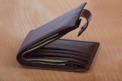 Бумажник с деньгами Стоковые Фотографии RF