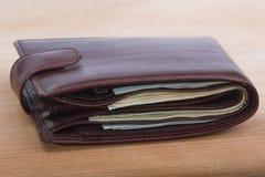 Бумажник с деньгами Стоковое Фото