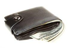 Бумажник с долларами Стоковое Изображение
