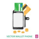 Бумажник телефона Стоковое Фото