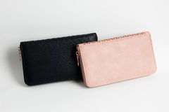 Бумажник цвета кожаный Стоковые Изображения RF