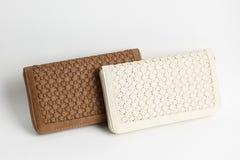 Бумажник цвета кожаный Стоковое Изображение