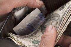 бумажник человека s Стоковое Изображение RF