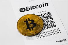 Бумажник Bitcoin стоковая фотография