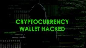 Бумажник Cryptocurrency прорубил, деньги финансов уголовные крадя от учета акции видеоматериалы