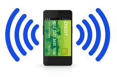 Бумажник NFC цифров стоковое изображение rf