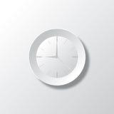 Бумажное белое время Стоковое Фото