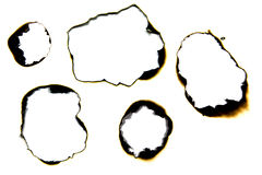 Бумажное горение Стоковые Изображения RF