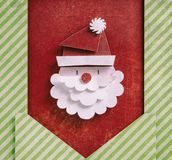 Бумажное искусство Санта Клауса стоковое фото rf
