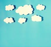 Бумажное облако с трудной тенью Стоковые Изображения RF