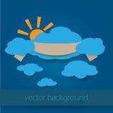 Бумажное облако Стоковая Фотография RF