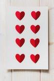 Бумажное сердце на пустом письме Стоковые Фотографии RF