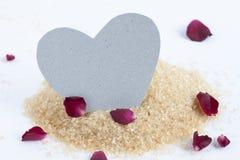 Бумажное сердце на сахаре Стоковое Фото