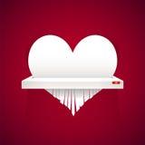 Бумажное сердце отрезано в шредер иллюстрация вектора