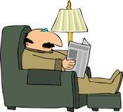 бумажное чтение Стоковое Изображение