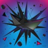 Бумажное origami корабля Стоковое фото RF