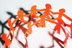 Бумажной соединенная командой совместно концепция партнерства Стоковое фото RF