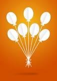 Бумажные воздушные шары Стоковая Фотография